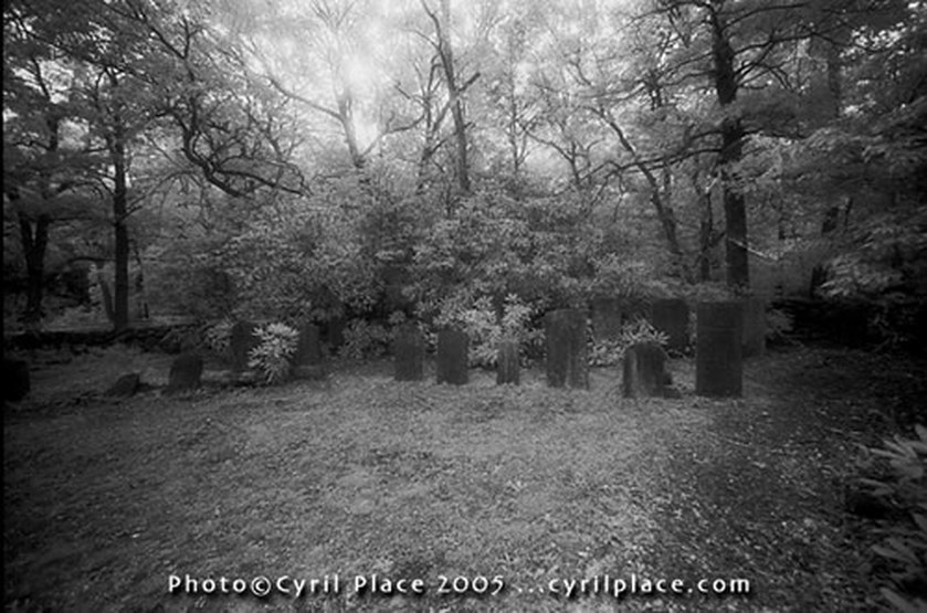 Sagamore Cemetery, Bourne, Massachusetts. As described in Cape Encounters: Contemporary Cape Cod Ghost Stories.